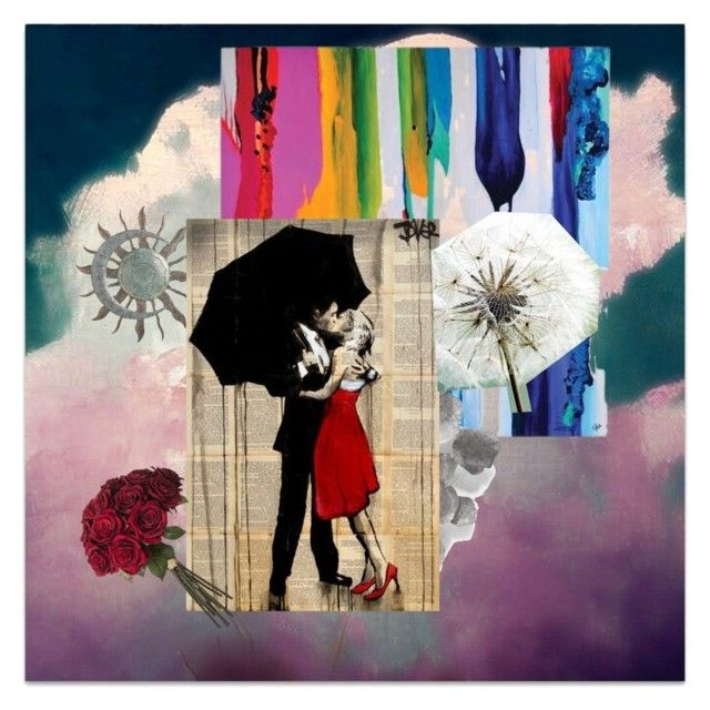 """Rainy love"" by kawaiihearts on Polyvore featuring art"