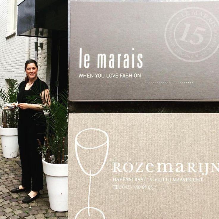 Food & Fashion = Yummie  #LeMaraisFashion & #RestaurantRozemarijn   The Rozemarijn Girls Dressed by Le Marais Maastricht! #collaboration #lemaraismaastricht #fashionstore #restaurantrozemarijn #maastricht #havenstraat #stokstraatkwartier  #food #blackjumpsuit #nomanslandnl #dresses @zenggiamsterdam