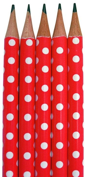 Polka Dot Red pencils