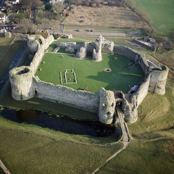 Pevensey Castle, near Eastbourne - English Heritage. Open daily, April to October, and weekends only, November to March.