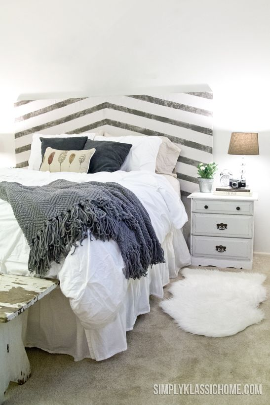 Master Bedroom Mini Makeover and a DIY Headboard