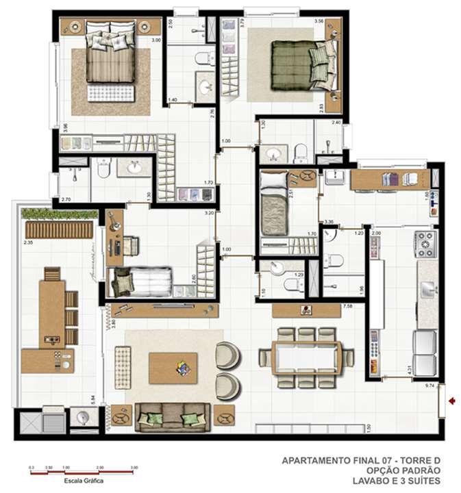 M s de 25 ideas incre bles sobre apartamentos modernos en - Disenos de apartamentos pequenos ...