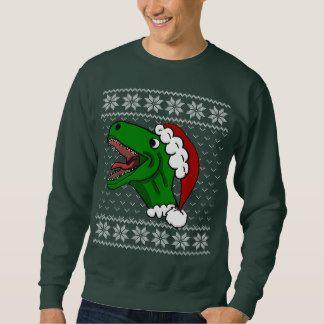 Ugly Christmas Sweater Dinosaur Santa T Rex