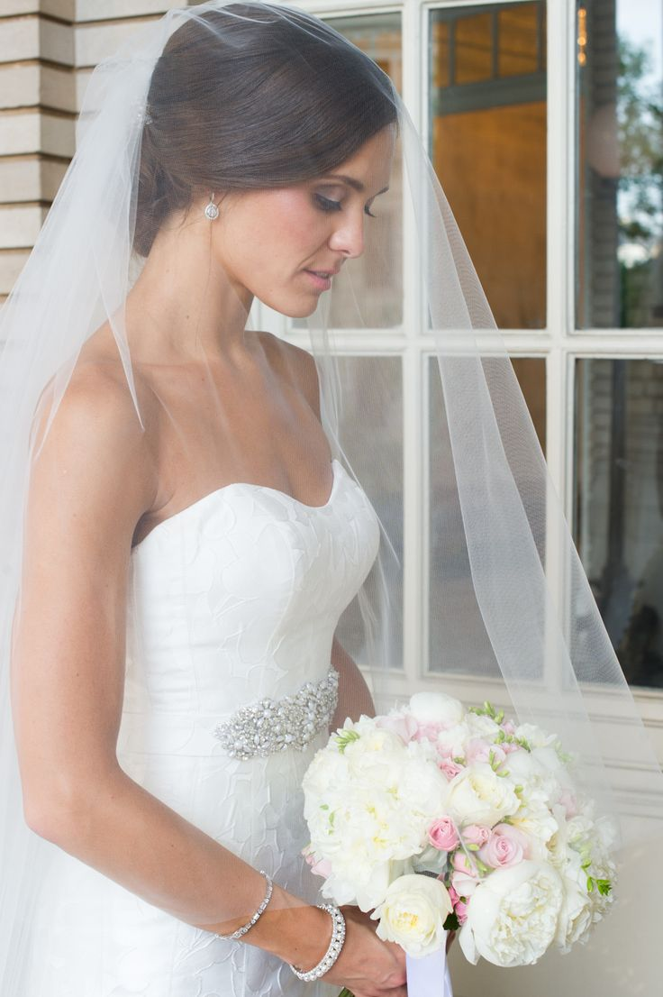 Having a veil with a blusher is so classic and elegant!
