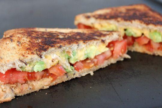 Tomato Avocado & Vegemite Grilled Cheese Sandwich...(Vegemite, you say!?)