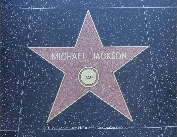 Michael Jackson star on Hollywood Walk of Fame