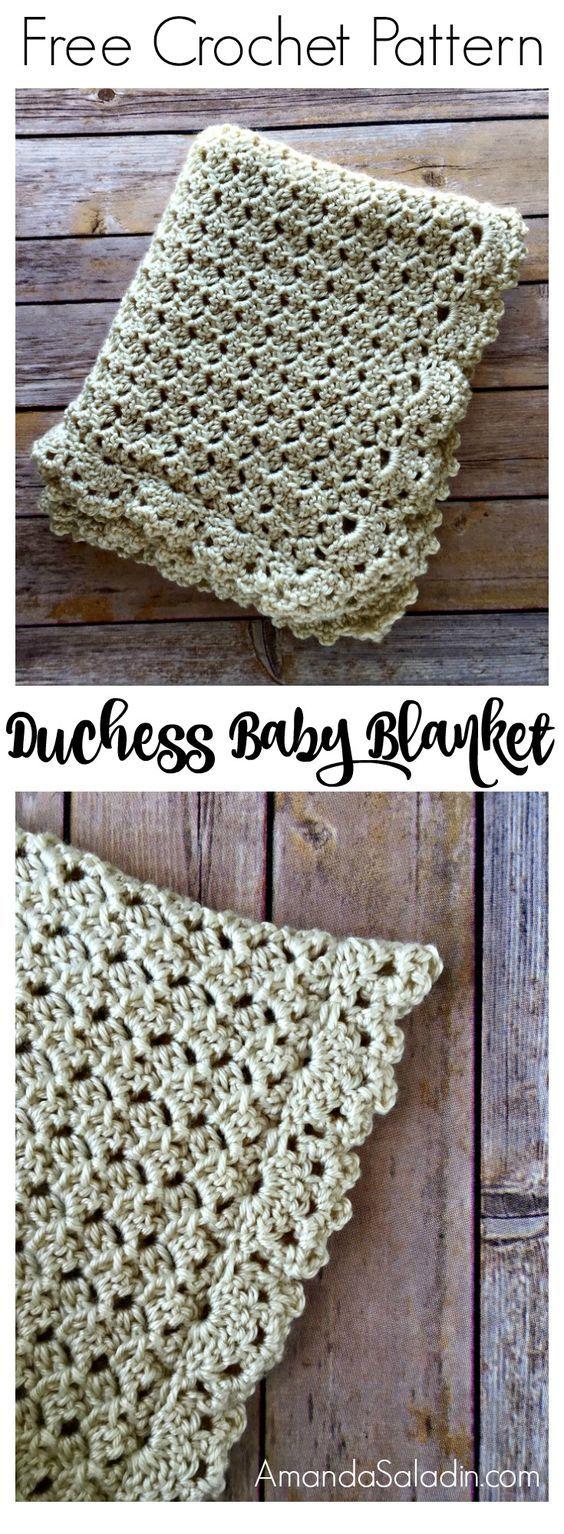Free Crochet Pattern - Duchess Baby Blanket, #haken, gratis patroon (Engels), baby, deken, sprei, kraamcadeau, #haakpatroon