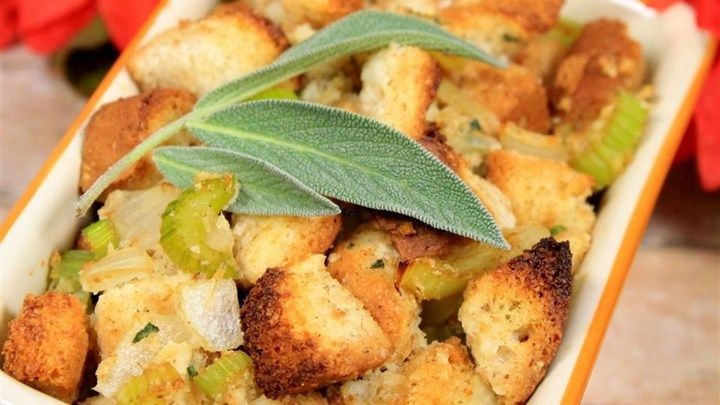 Everyone will enjoy this gluten-free version of bread stuffing this holiday season.
