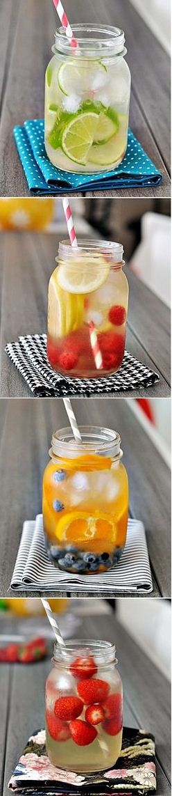 Fruit-infused waters.
