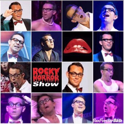 #ForsterFlashback The many faces of Brad Majors! (Rocky Horror Show U.K. tour 2012/13) 🤓👠👠👓💋 #benforster #rockyhorrorshow #rockyhorror #brad #bradmajors #ohbrad #faces