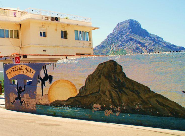 Island of Kalymnos - Climbers Nest - showing Island of Telendos - Greece
