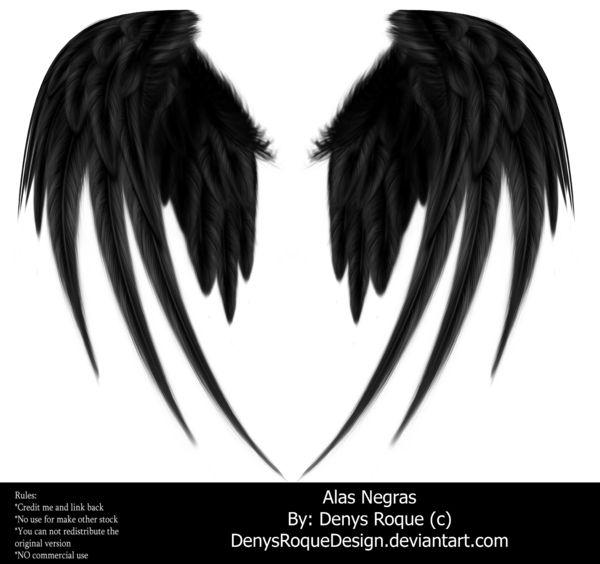 Alas Negras By Denysroquedesign by DenysRoqueDesign on deviantART