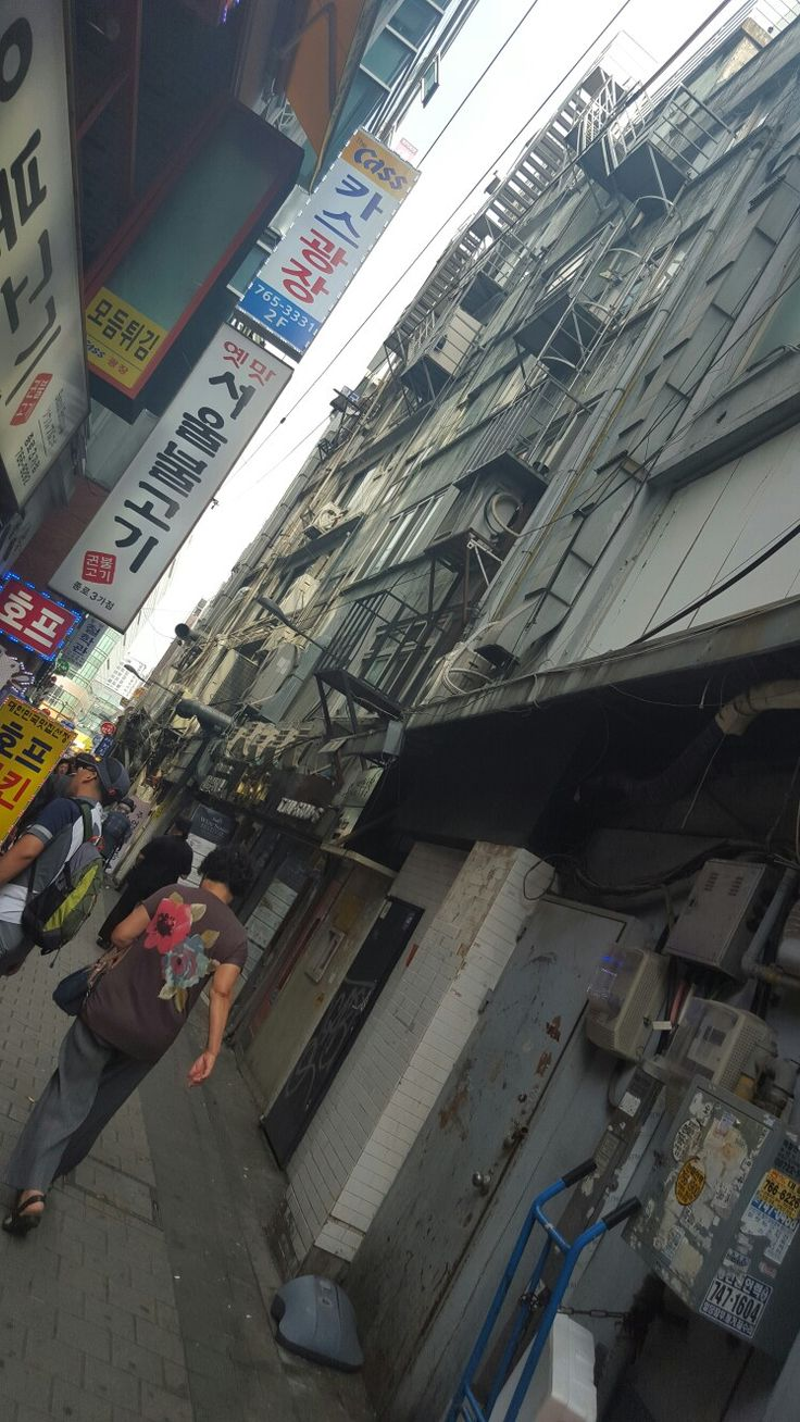 Backstreet in Seoul.