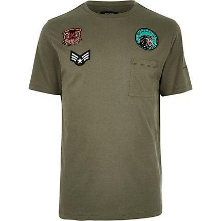 Khaki badge t-shirt £18.00