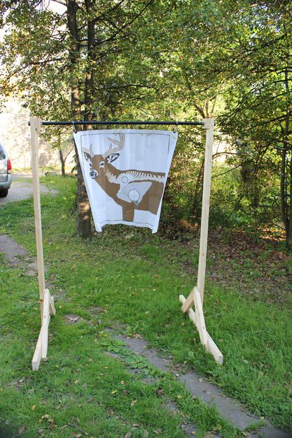 Collapsable Archery Target Stand #outdoors #hunting #survival #woodworking