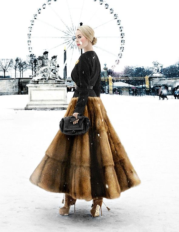 PFW #streetstyle #classic #Russian #Winter