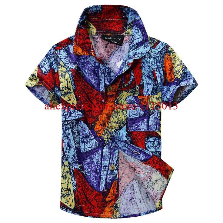 Новое поступление цветочный рубашка гавайская рубашка гавайская рубашка для детей 1606
