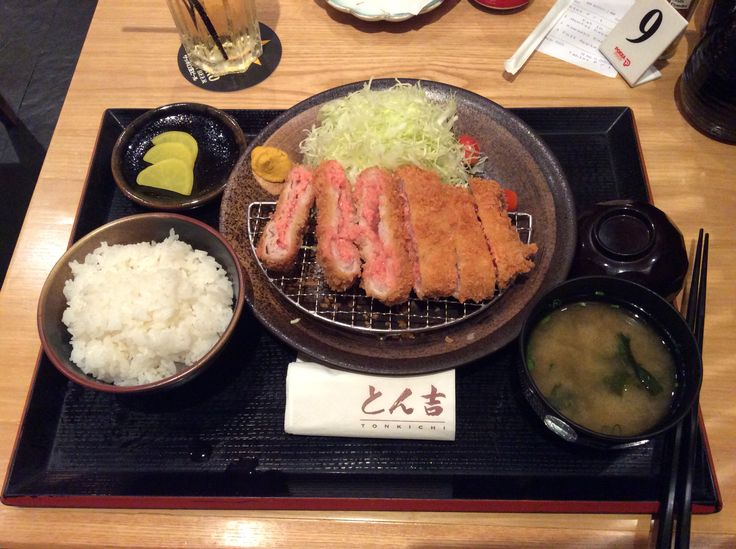 明太子重ねかつセット Deep fried layered sliced pork loin sandwiched with mentaiko ( spicy silver cod roe )