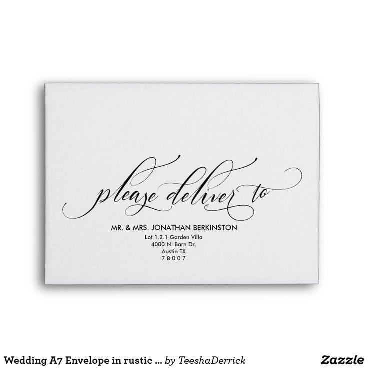 33 best Wedding Envelope Template images on Pinterest - a7 envelope template