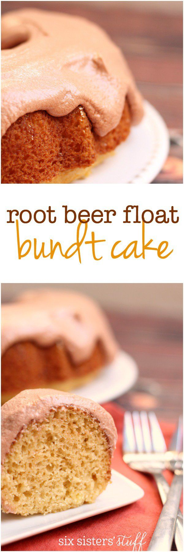 Root Beer Float Bundt Cake Recipe (cake mix recipe)