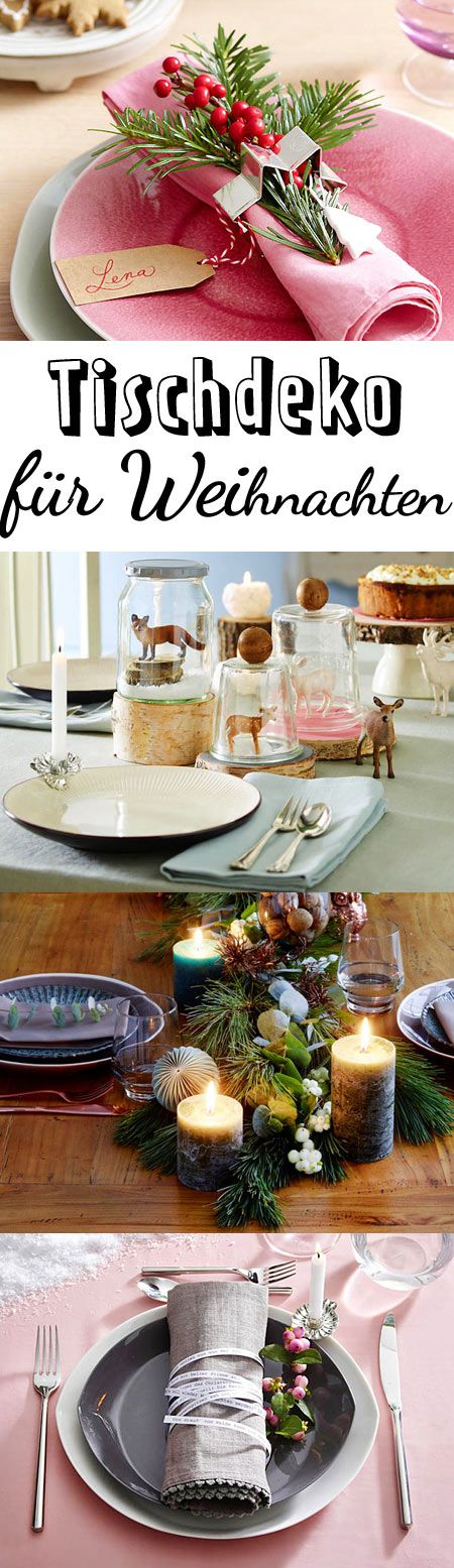 Tischdeko weihnachten ideen  Die besten 20+ weihnachtliche Tischdekoration Ideen auf Pinterest ...