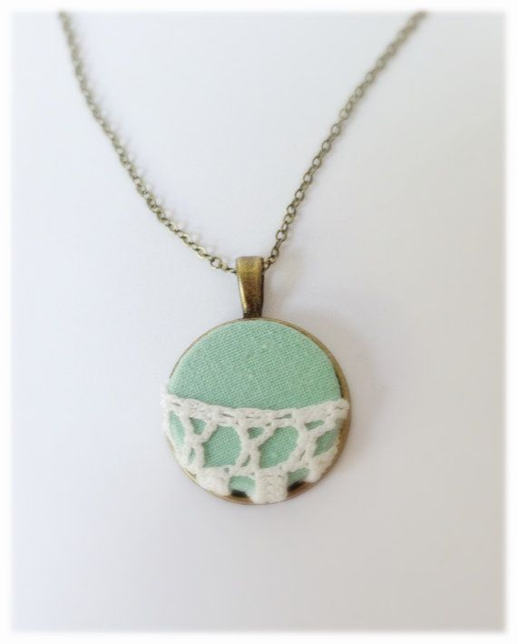 Mint+Lace+Necklace+Turquoise+Necklace+Bridesmaid+by+DanusHandmade