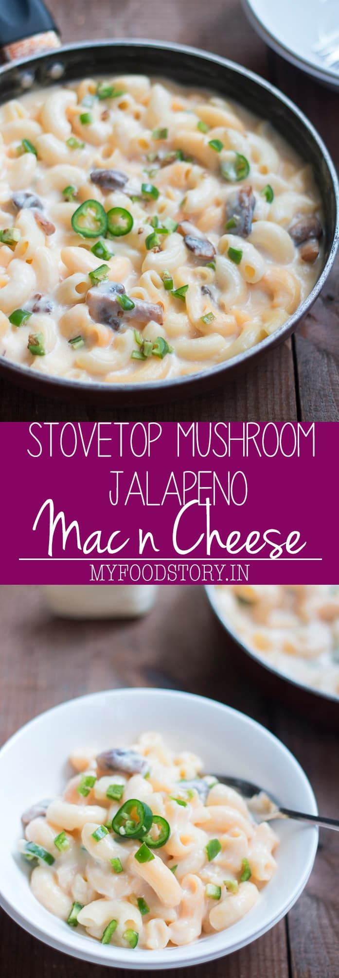 Easy Stovetop Jalapeno Mushroom Mac and Cheese | Recipe ...