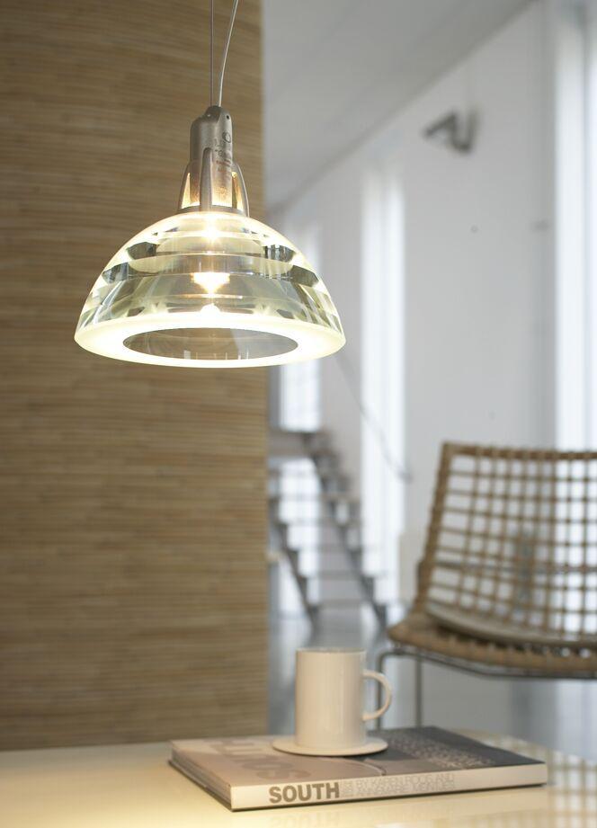 hanglamp optisch kristal goede kleurechtheid transparant parel voor boven de eettafel Galileo Lumina Eikelenboom