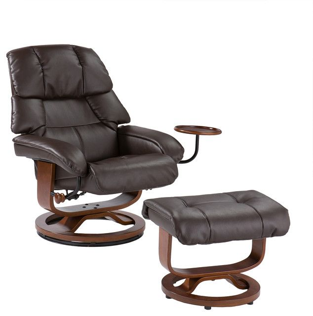 Reclining Chair With Ottoman Recliner Chairs: Leather Rec...