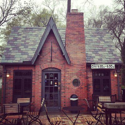 Cute as building! Hi Hat Coffee, Kansas City. Photo Credit Yelp
