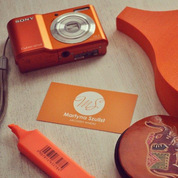 Pomarańczowo mi! :) #Orange #wizytówki #polishdesign #interiordesigner #projektantwnetrz #architektenetrz #pomarańczowy #aparat #camera #sony #słoń #elephant #art #work #inspiration #inspiracje #martynaszulist #model3d