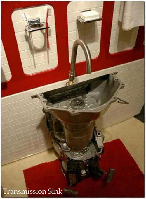 ha! transmission sink for the garage