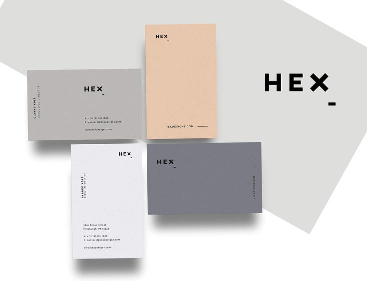 HEX - Business Card Template for both personal and professional use. Aesthetically pleasing with striking colors and a clear, minimal layout. #business #card #clean #minimal #aesthetic