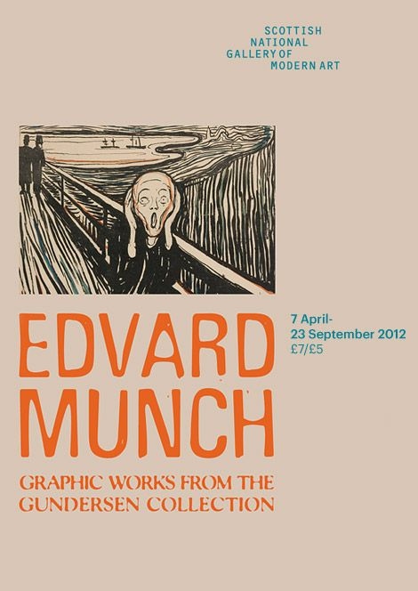 Edvard Munch: Graphic Works from the Gundersen Collection     National Gallery, . Tel:0131 624 6200to 23 Sept, Opening hours: Mon-Sun, 10.00-17.00