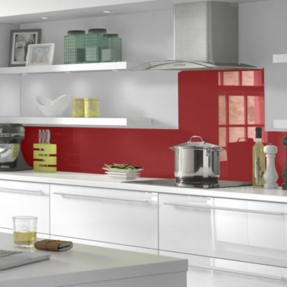Vistelle Kitchen Splashback 760 x 700 x 4mm Red, 5055341708813