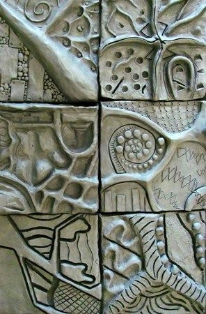 Group1133's art on Artsonia  Oil Based Clay, Zentangle Relief Sculpture