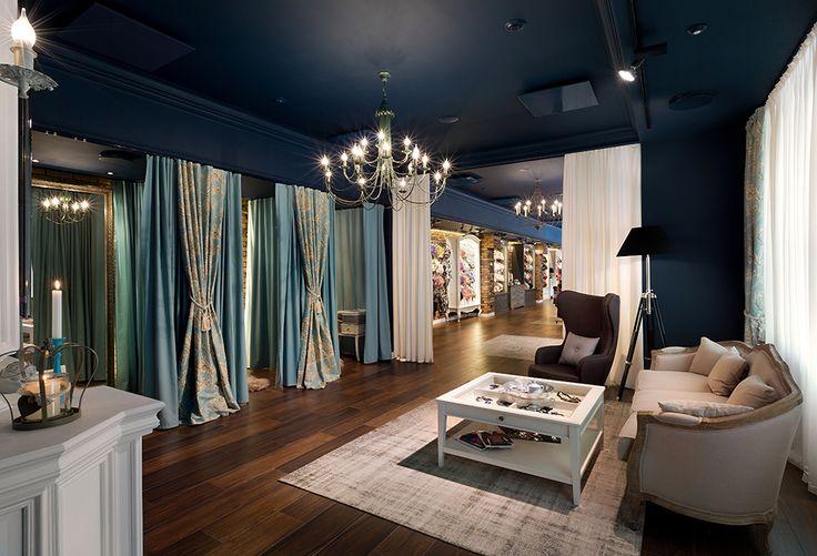 Элегантный интерьер бутика женского белья Belleza