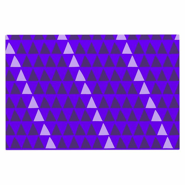 "Matt Eklund ""Overload - Purple"" Purple Digital Decorative Door Mat"