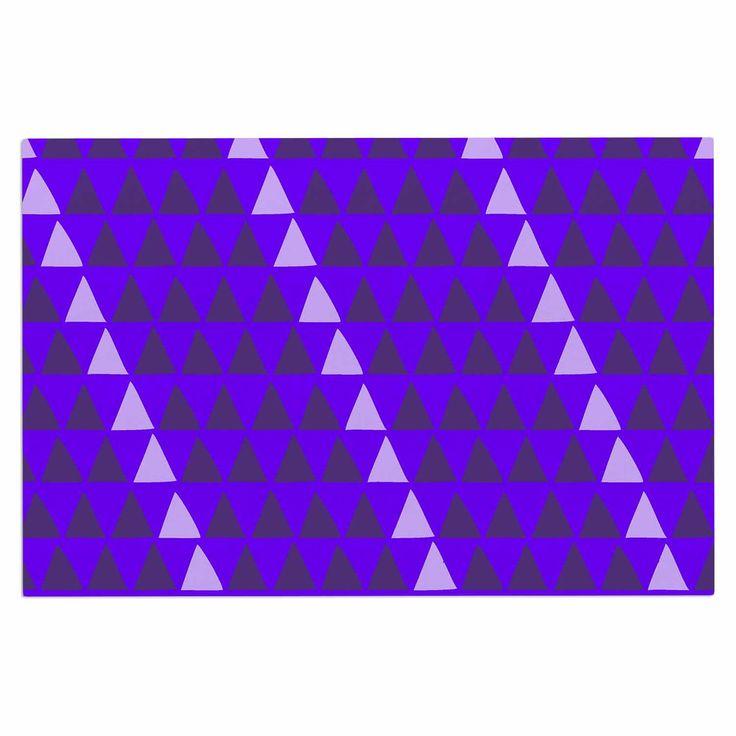 "Matt Eklund ""Overload - Purple"" Purple Digital Decorative Door Mat"