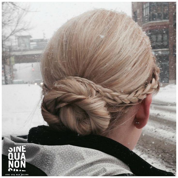 Hair by Kathy at Sine Qua Non Salons.  #cute #hair #hairstyle #sinequanon #bumbleandbumble #randco #style #chicago #hairchicago #chicagohairsalon #adorable #braid #updo #pretty #beautifulhair #braidupdo