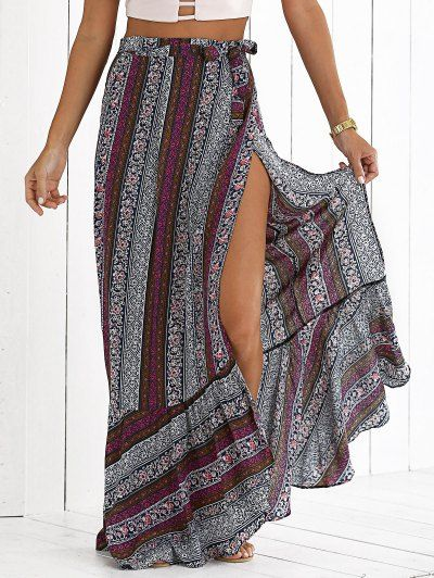 SHARE & Get it FREE | High Slit Bohemian Printed Maxi SkirtFor Fashion Lovers only:80,000+ Items • New Arrivals Daily Join Zaful: Get YOUR $50 NOW!