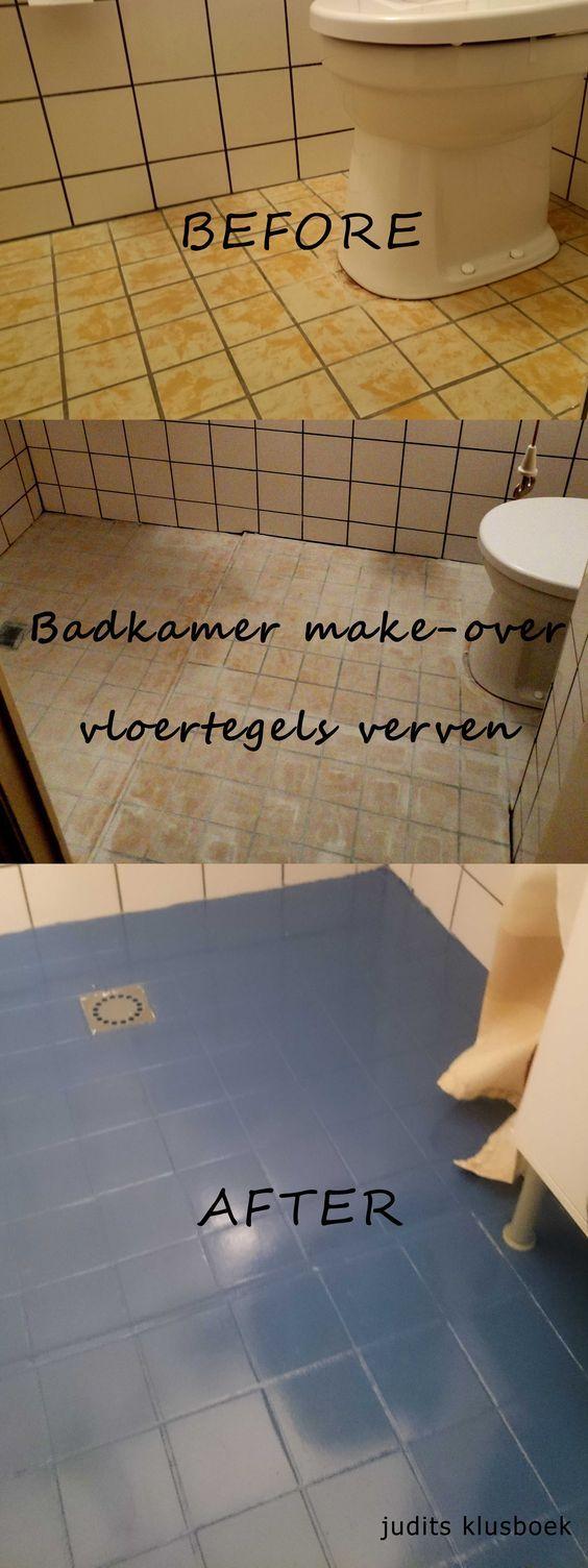 snel, eenvoudig en on-a-budget badkamer make-over. vloertegels verven!