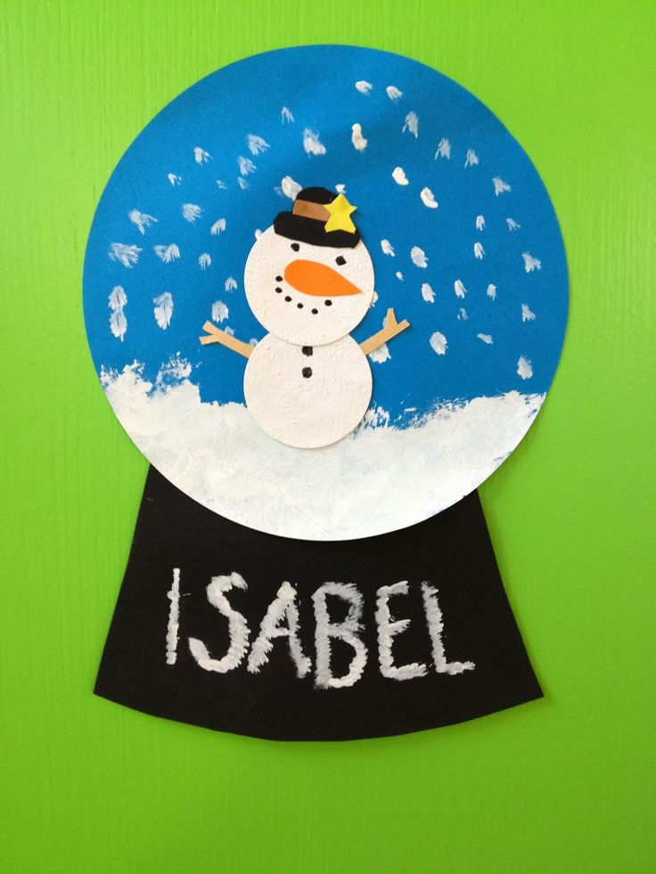 KLASSENKUNST: Schneekugeln aus Papier