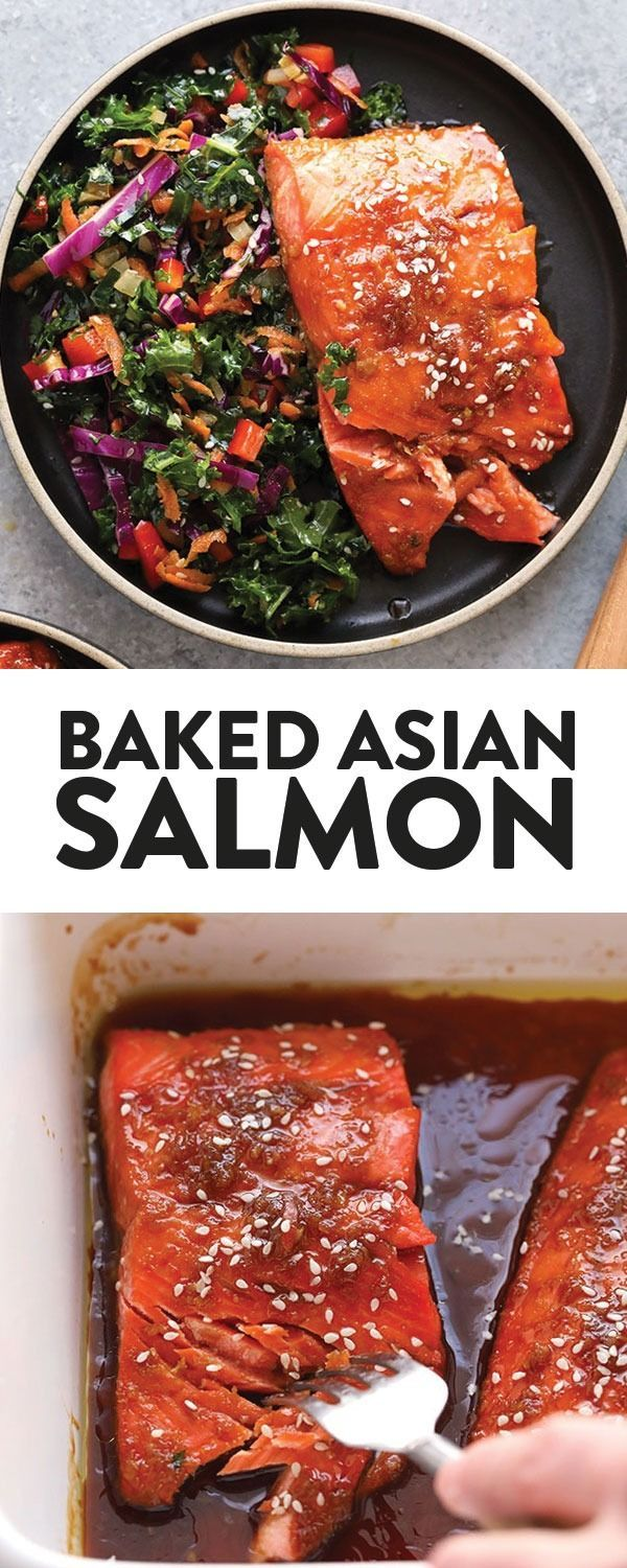 This Maple Ginger Baked Salmon Is Perfectly Tangy And Sweet And Baked To Perfection Seafood Recipes Healthy Salmon Recipes Healthy Food Recipes Clean Eating