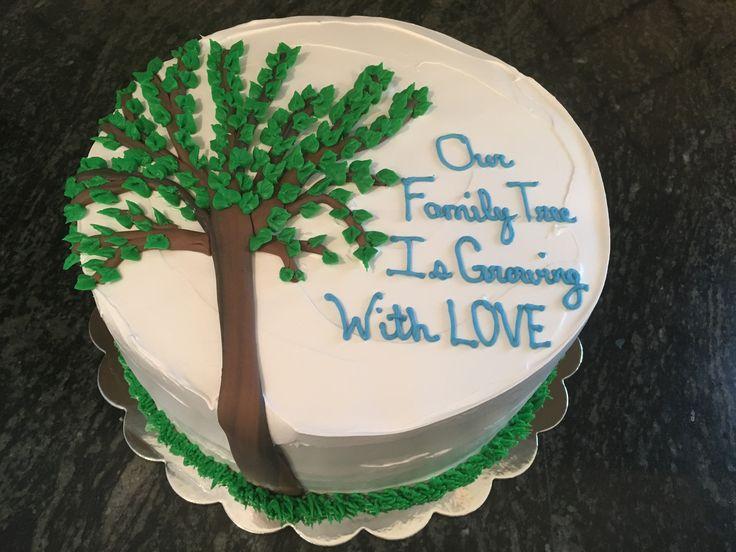 Family tree Adoption cake