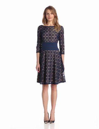 Adrianna Papell Women's Pintuck Waist Party Dress