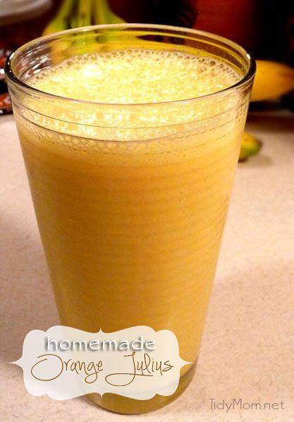 Homemade Orange Julius recipeHealth Food, Frozen Orange, Homemade Orange Juice, Orange Drinks, Recipe Orange Julius, Fun Drinks, Healthy Food, Julius Recipe, Favorite Drinks