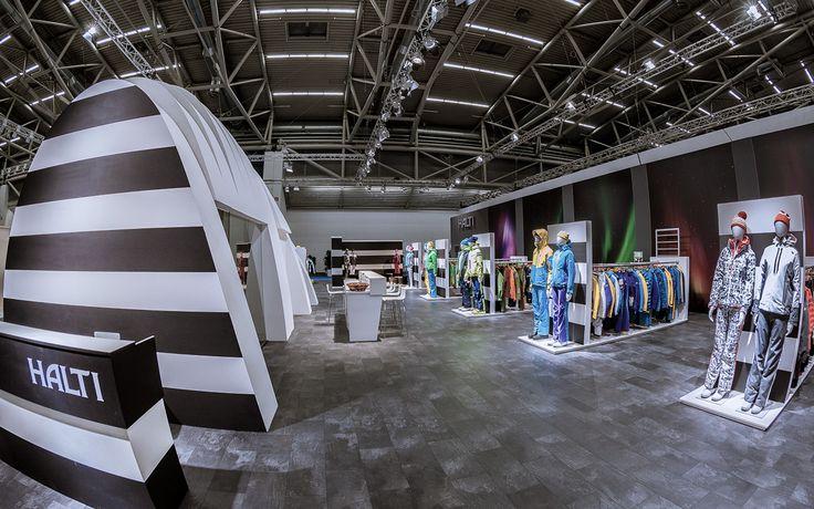Messestand HALTI auf der ISPO in München. Design by CHRITTO  #Messebau #München #Messedesign #Messebauer #HALTI #ISPO