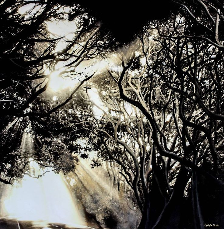 2014 Pohutukawa Tunnel -  Original SOLD / Limited Edition Prints Available from www.temetemaoriart.com