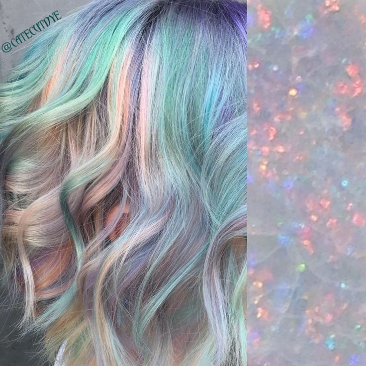 Opal hair!  Kevin Murphy bleach with olaplex then all pravana pastels! Peach, mint, lavender, baby blue and baby pink!  @catcutdye